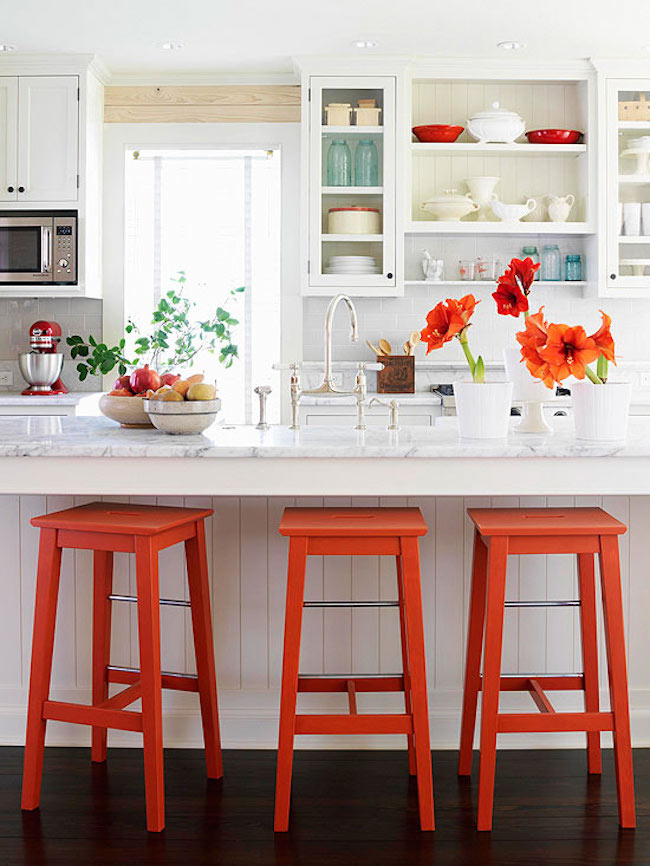brilliant kitchen bar stools that add a serious pop of color  rh   materialicious com
