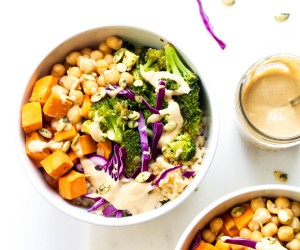 Buddha Bowls with Ginger Tahini Dressing