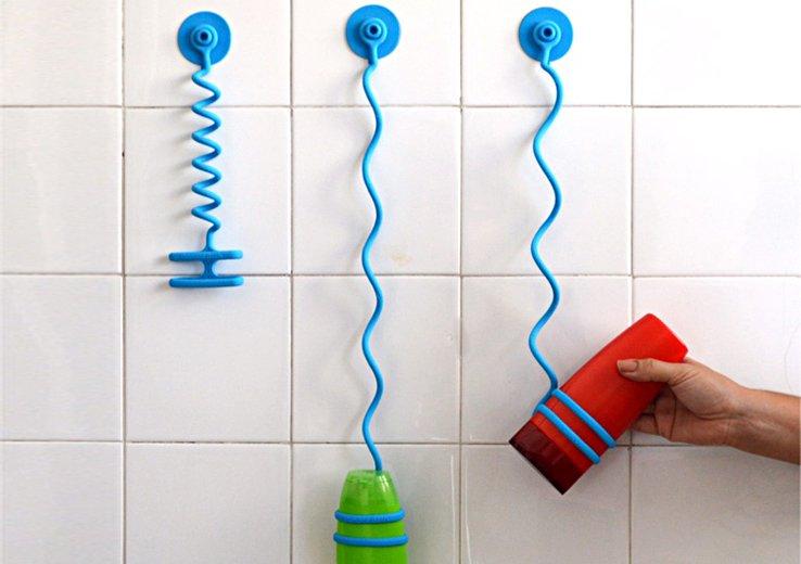Bungee Bath: A Bungee Cord Shower Organizer