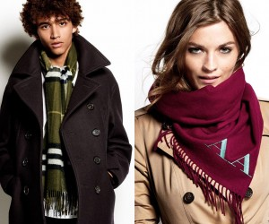 Burberry Shows Us How to Style Scarves