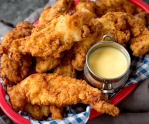 Buttermilk Chicken With Honey Mustard Mayo