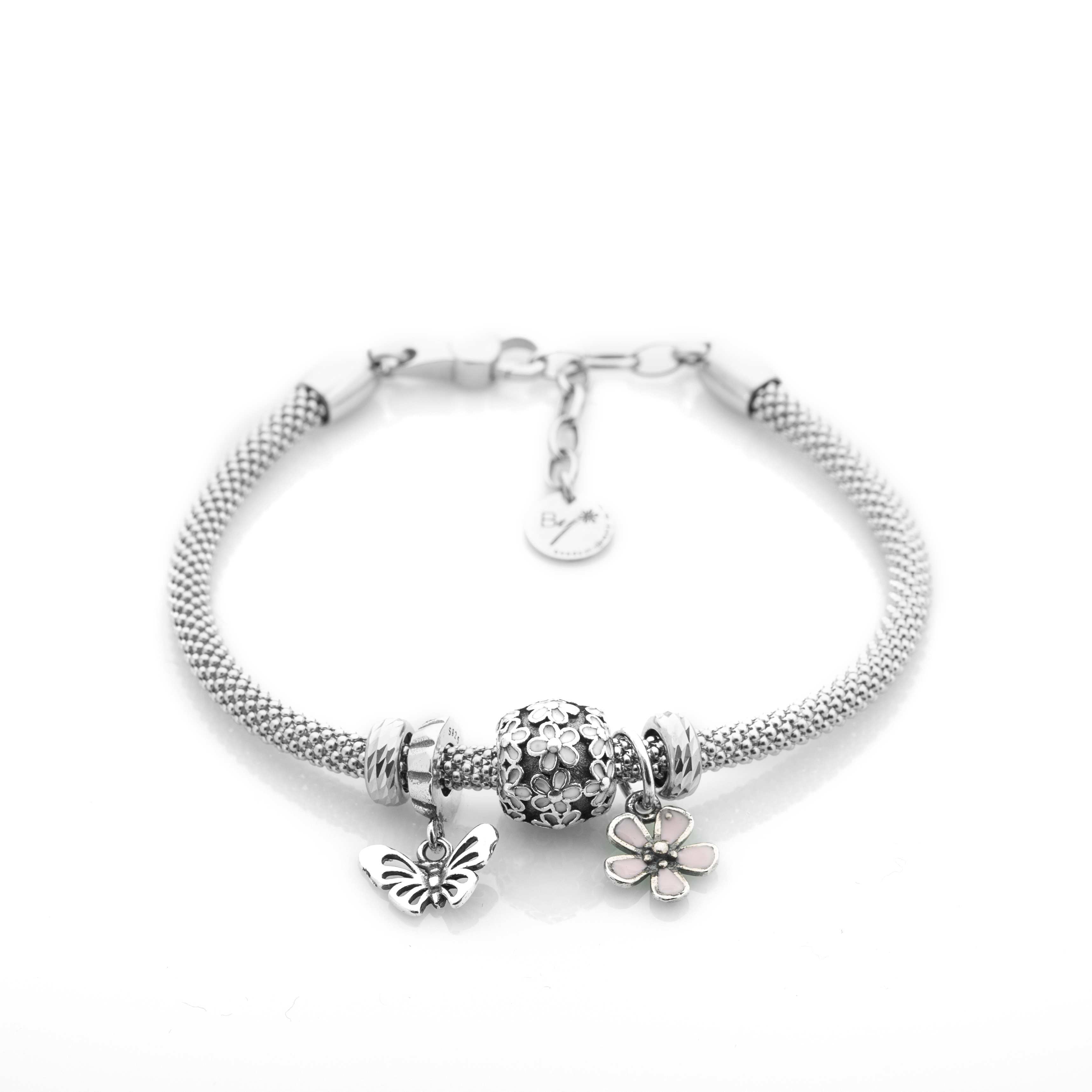charmed metallic charm women product kate silver jewelry in bracelets normal bracelet york lyst new bangles gallery s spade