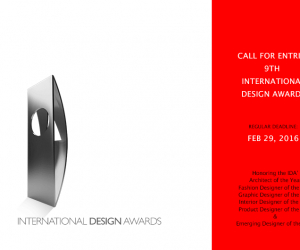 Call for Entries to the 9th International Design Awards Competition  6 Shares 5 1