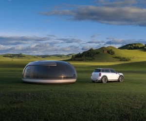Camping Pod Influenced by the Mini Cooper