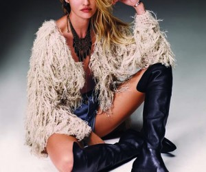 Candice Swanepoel is Western Chic in Free Peoples July catalogue