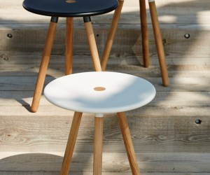 Cane-line Area Side Table  Stool by Welling  Ludvik