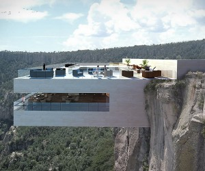 Cantilevered Restaurant