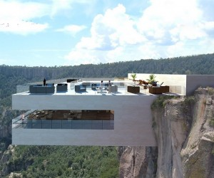 Cantilevered Restaurant Overhangs Mexicos Copper Canyon