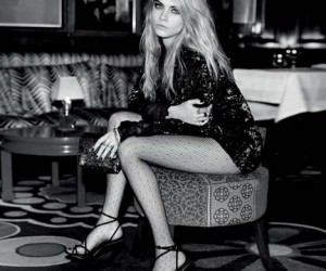 Cara Delevingne Sparkles in Topshops Holiday Collection