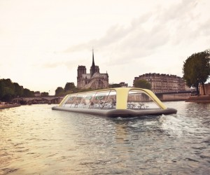 Carlo Rattis Human-Powered Gym Boat for Paris