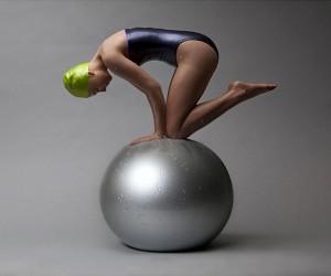 Carole A. Feuermans Realistic Swimmer Sculptures