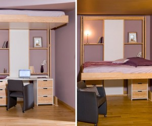 Ceiling Retractable Bed By Espace Loggia