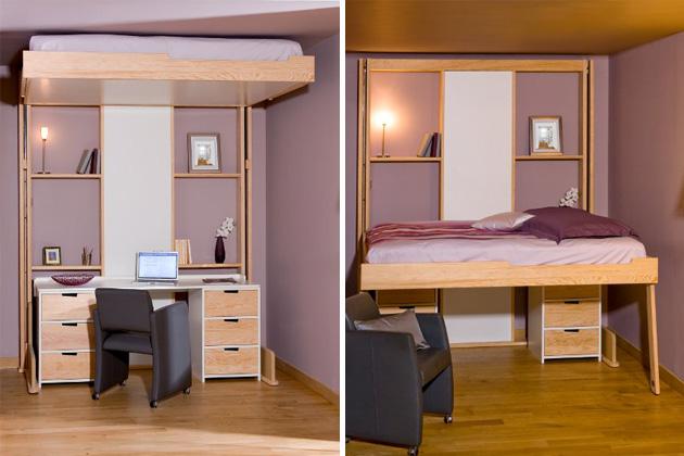 ceiling retractable bedespace loggia