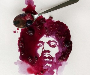 Celebrity Food Art by Jesse Beardon