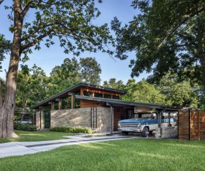 Central Austin House Remodeled in the Spirit of the Original Mid-Century House