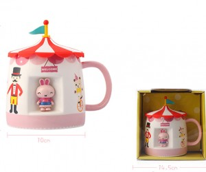 Ceramic Cartoon Circus Troup Mug
