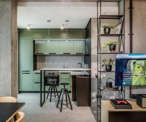 Charming 86 Sqm Apartment in Kiev Designed for a Cinema Fan