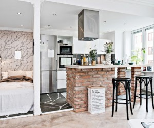 Charming studio design in Sweden
