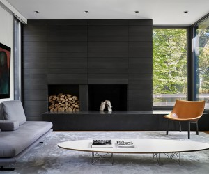 Charred WoodClad House in the Toronto Suburbs