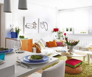 Cheerful and colorful small apartment