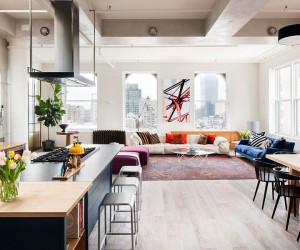 Cheerful Manhattan Loft Unleashes Vivacious Color and Deft Creativity