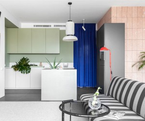 Cheerful Mix of Color and Texture in Moscow Apartment