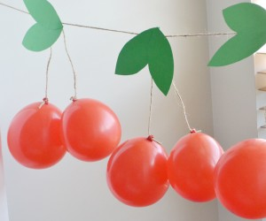 Cherry Balloon Party Garland