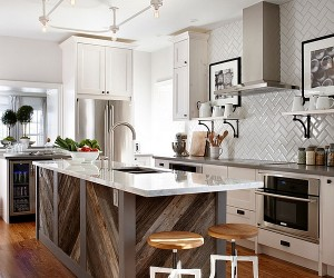 Chevron And Herringbone Patterns in Your Kitchen