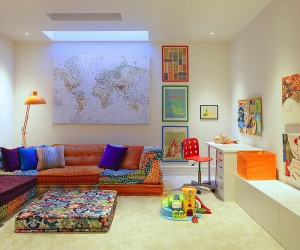 Chic Adaptability: 10 Kids Rooms with Versatile Modular Seating