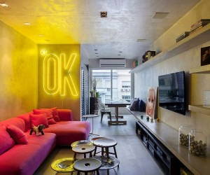 Chic Dcor and Concrete Walls Welcome You at Snazzy Ipanema House
