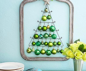 Christmas decorating: Clever and Creative Christmas Wall Trees