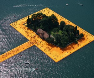 Christos Floating Piers Opens on Lake Iseo, Italy