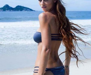 Cintia Dicker Hits the Beach for Her Swimsuit Line