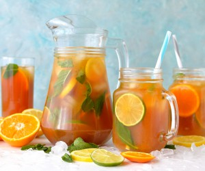 Citrus And Mint Iced Tea