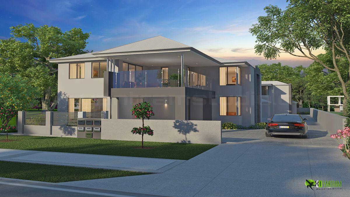 Classic Exterior D Home Design - Home designer 3d