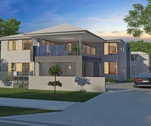 Modern Exterior 3D House Design Ideas by Yantram Architectural Studio