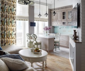 Classic interior with elements of style Provence