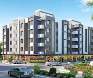 classic residential Exterior design rendering