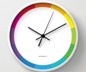Color Wheel wall clock by dzynwrld