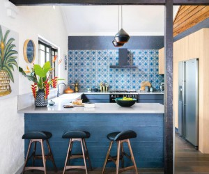 Colorful and eclectic interior in Australia