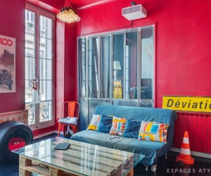 Colorful apartment in Marseilles