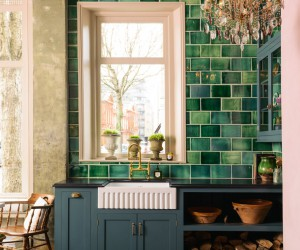 Colorful kitchen by deVOL
