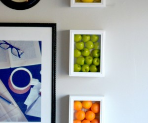 Colorful Kitchen Wall Art With Fake Fruits