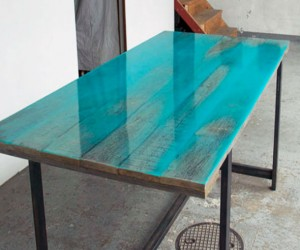 Coloured Resin Tables