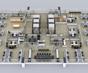 Commercial 3D Floor Plans of the Sets for The Office in Melbourne, Australia