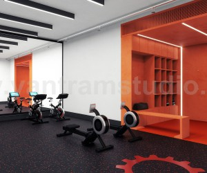 Commercial Fitness GYM 3D Interior Modeling Ideas by Architectural Rendering Companies, Bern  UK