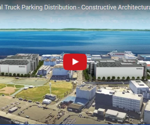 Truck Parking Distribution - Constructive Architectural Animation in Japan