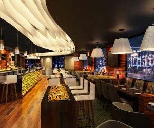 Commercial Unique Bar Interior Rendering design CGI  Melbourne, Australia