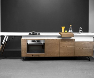Compact Kitchen Design by Irena Kilibarda