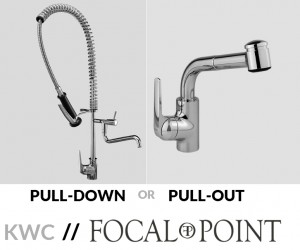 Comparing Pull Out and Pull Down Kitchen Faucets